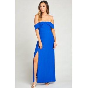 Show me your Mumu blue uptown maxi dress